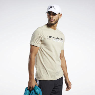 Men Training Beige Meet You There Tee