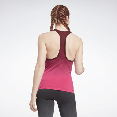 Women Gym & Training Burgundy United By Fitness Seamless Tank Top