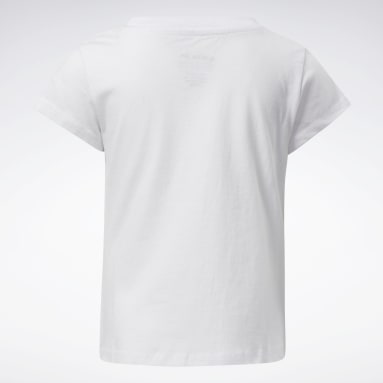 Camiseta Reebok Lock Up Blanco Niña Fitness & Training
