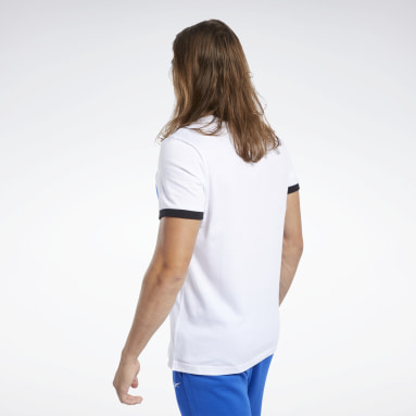 Men Fitness & Training White Training Essentials Linear Logo Tee