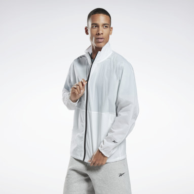 Fitness & Training White Zip-Up Track Jacket