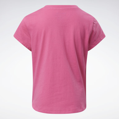 T-shirt Reebok Lock Up Rosa Ragazza Fitness & Training