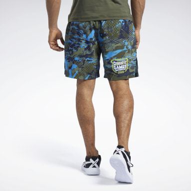 Men Cross Training Green Reebok CrossFit® Games Austin II Allover Print Shorts