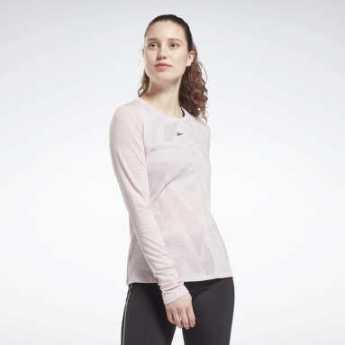 Maglia Burnout Long Sleeve Rosa Donna Fitness & Training