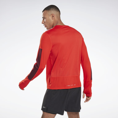 Men Running Red Running Essentials Long Sleeve Shirt