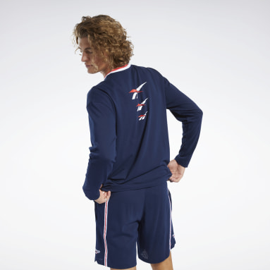 Men Classics Blue Classics Long Sleeve Jersey