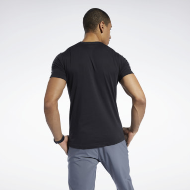 GS Reebok Linear Read Tee Negro Hombre Fitness & Training