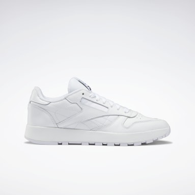 Classics White Maison Margiela Classic Leather Tabi Shoes