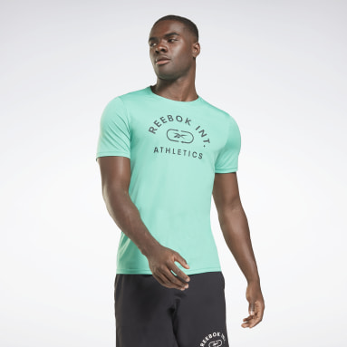 Men Training Turquoise Workout Ready Graphic T-Shirt