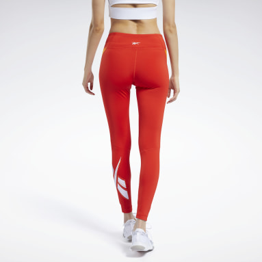 Women Training Red Workout Ready Vector Leggings