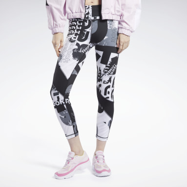 Calzas Meet You There Allover Print 7/8 Negro Mujer Fitness & Training