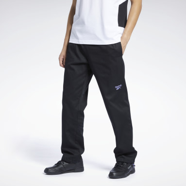 Men Classics Black Classics Washed Track Pants