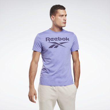Men Training Purple Graphic Series Reebok Stacked Tee