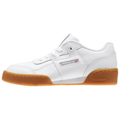 Kids Classics White Workout Plus Shoes - Grade School