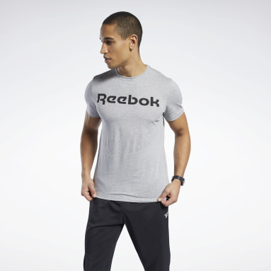 GS Reebok Linear Read Tee Gris Hombre Fitness & Training