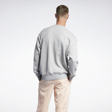 Men Classics Grey Classics Crew Sweatshirt