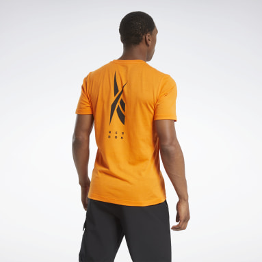 Men Hiking Orange Edgeworks Graphic T-Shirt
