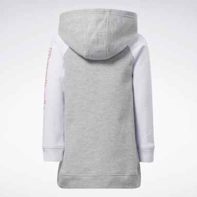 Robe hoodie Reebok Classics Gris Girls Fitness & Training