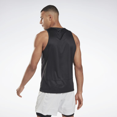Men Terrengløping Black Running Essentials Singlet