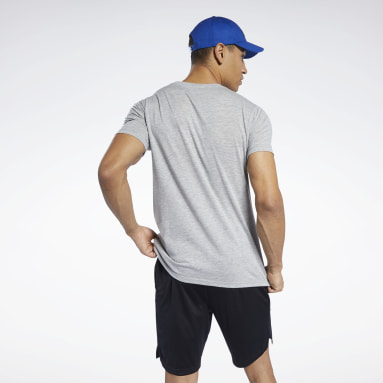 Camiseta Workout Ready Jersey Tech Gris Hombre Yoga