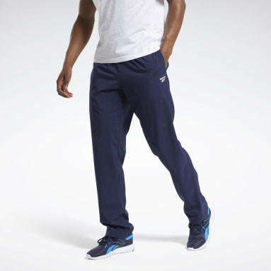 Men Training Blue Training Essentials Woven Unlined Pants