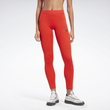 Women Fitness & Training Red VB Performance Leggings