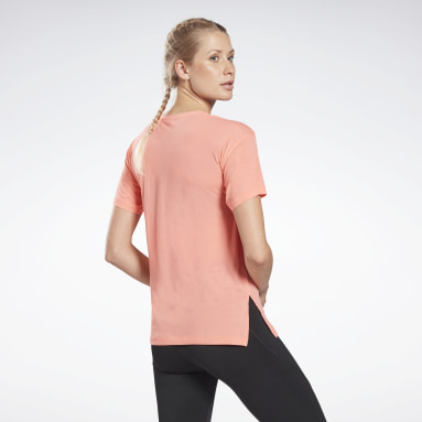 Women Yoga Red Workout Ready ACTIVCHILL Tee