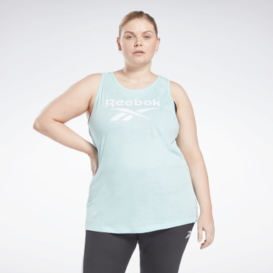 Women Training Blue Reebok Identity Tank Top (Plus Size)