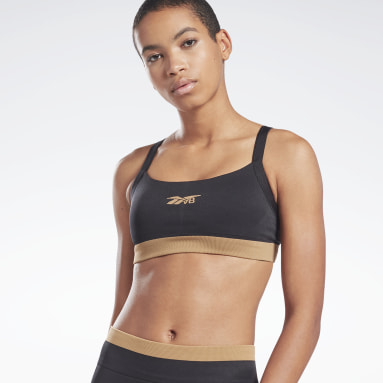 Women Fitness & Training Black VB Seamless Low-Impact Bra