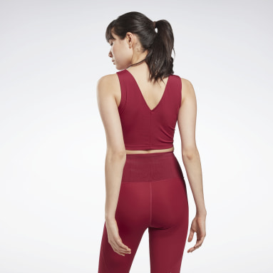 Women Cycling Pink Lux Perform Crop Top