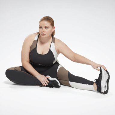 Women Training Black Lux High-Rise Leggings (Plus Size)