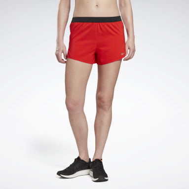 Women Running Red Run Essentials 3-Inch Shorts