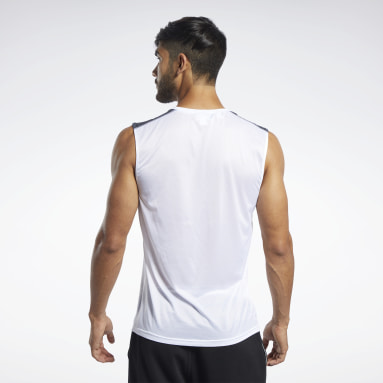 Men Trail Running White Workout Ready Tech Tee