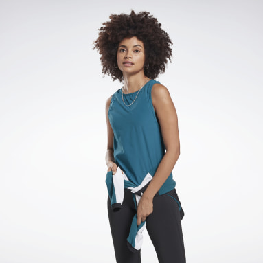 Women Yoga Turquoise Studio High Intensity Tank Top