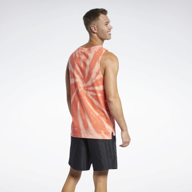 Men Classics Orange Classics Tie-Dye Tank Top