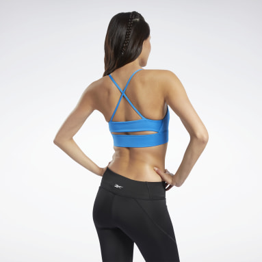 Dames Fitness & Training Blauw Workout Ready Low-Impact Tri Beha