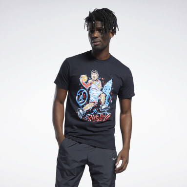Men Classics Allen Iverson Graffiti Paint T-Shirt
