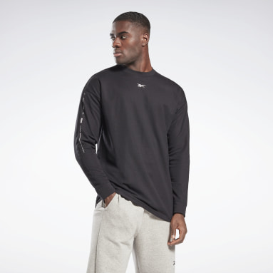 Men City Outdoor Black Utility Long Sleeve T-Shirt