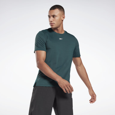 Polera TS AC Solid MOVE Verde Hombre Fitness & Training