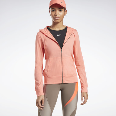Women Fitness & Training Reebok Identity Jersey Zip Up Hoodie