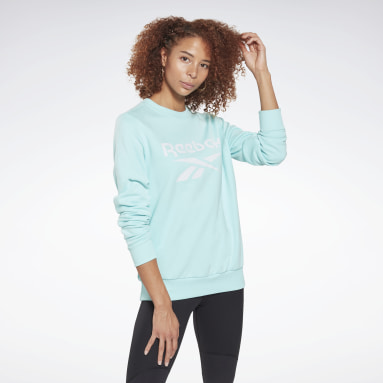 Women Fitness & Training Reebok Identity Logo French Terry Crew Sweatshirt