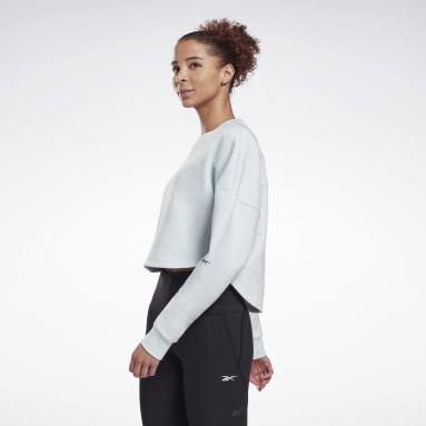 Women Fitness & Training Blue DreamBlend Cotton Midlayer Sweatshirt
