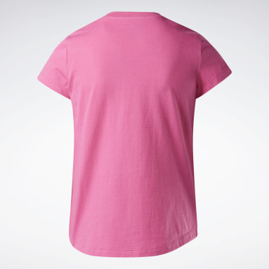 Mädchen Fitness & Training Reebok Lock Up T-Shirt Rosa