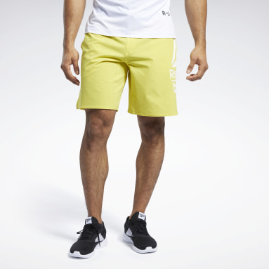 Pantalón corto Reebok CrossFit® Epic Base Large Branded Amarillo Hombre CrossFit