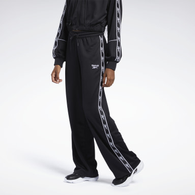 Women Classics Black Classics Foundation Wide Taped Pants