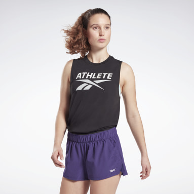 Frauen Cross Training Athlete Vector Tanktop Schwarz