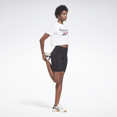 Women Training White Reebok Identity Cropped T-Shirt