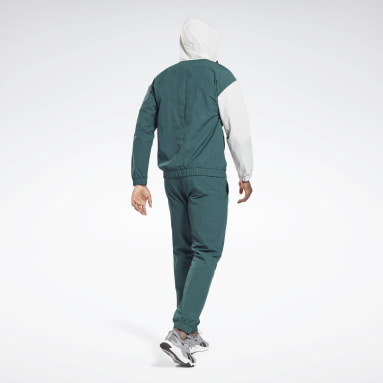 Men Fitness & Training Green Woven Tracksuit