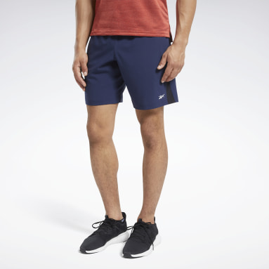 Men Running Blue Workout Ready Shorts