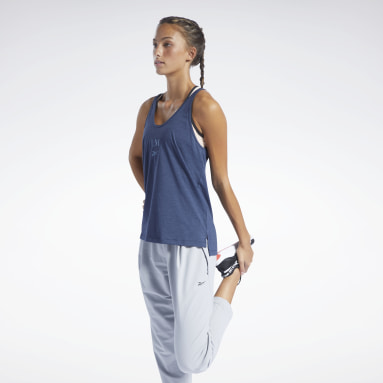 Women Pilates Blue Les Mills® Restorative Tank Top